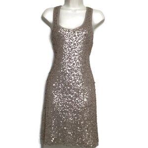 Max Studio Rose Gold Sequin Evening Dress XL
